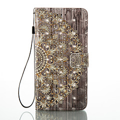 Назначение iPhone 8 iPhone 8 Plus Чехлы панели Бумажник для карт Кошелек со стендом Флип С узором Магнитный Чехол Кейс для Мандала Цветы