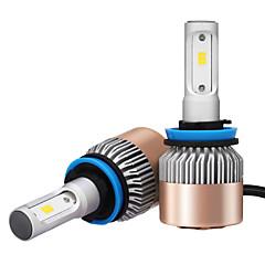 2 stuks h8 h9 h11 7200lm csp led del faro h11 led koplamp voor auto met csp goederen kwaliteit chips 36w vermogen