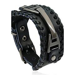 preiswerte Armbänder-Herrn Lederarmbänder - Leder Natur, Modisch Armbänder Schwarz / Braun Für Besondere Anlässe Geschenk