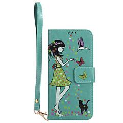 Etui Til Samsung Galaxy S8 Plus S8 Pung Kortholder Med stativ Lyser i mørket Flip Præget Mønster Heldækkende Kat Sexet kvinde Hårdt