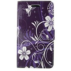 billige Galaxy A3 Etuier-Etui Til Samsung Galaxy A5(2017) A3(2017) Pung Kortholder Med stativ Flip Heldækkende Tegneserie Blomst Blødt Kunstlæder for A3 (2017) A5
