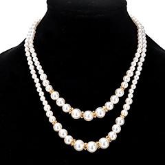 preiswerte Halsketten-Damen Stränge Halskette - Gold, Silber Modische Halsketten Schmuck Für Party, Alltag, Normal
