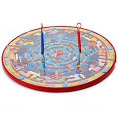 voordelige -Bordspellen Magnetisch doolhof Speeltjes Groot formaat Cirkelvormig Hout Stuks Kind Geschenk