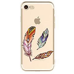 Для яблока iphone 7 7 плюс 6s 6 плюс чехол крышка перья шаблон окрашенный высокий уровень проникновения tpu материал мягкий чехол для
