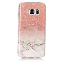 halpa Galaxy S3 kotelot / kuoret-Etui Käyttötarkoitus Samsung Galaxy S8 Plus S8 IMD Kuvio Takakuori Marble Pehmeä TPU varten S8 Plus S8 S7 edge S7 S6 edge S6 S5 S4 S3