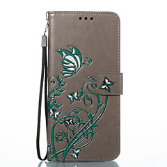 tanie Galaxy S3 Etui / Pokrowce-Kılıf Na Samsung Galaxy S8 Plus S8 Portfel Etui na karty Z podpórką Flip Wytłaczany wzór Wzór Futerał Motyl Twarde Sztuczna skóra na S8
