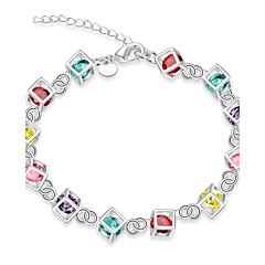 Women's Chain Bracelet Charm Bracelet Cubic Zirconia Synthetic Opal Tattoo Style Natural Friendship Fashion Vintage Bohemian Punk Hip-Hop