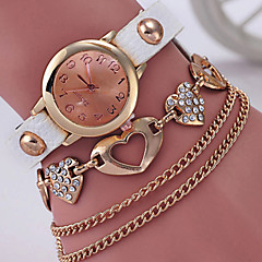 preiswerte Tolle Angebote auf Uhren-Damen Armband-Uhr Simulierter Diamant Uhr Quartz Armbanduhren für den Alltag Legierung Band Analog Modisch Elegant Schwarz / Weiß / Blau - Rose Hellblau Dunkelgrün