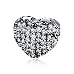 Mujer Colgantes Circonita Forma de Corazón Forma Geométrica Plata de ley ZirconioCircular Diseño Único Colgante Amistad Euramerican Moda