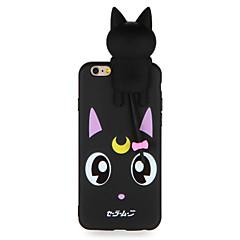 Случай для яблока iphone 7 7plus 3d мультфильм милый рисунок кота мягкий материал tpu задней крышки случая для iphone 6s плюс 6 плюс 6s 6