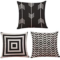 """tanie Poduszki-zestaw 3 kreatywnych geometrycznych strzałek rzuty drukowane poduszki kreatywna dekoracja (18 """"* 18"""")"""