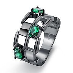 Ring Crystal AAA Cubic ZirconiaBasic Unique Design Rhinestone Geometric Friendship Turkish Gothic Double Sided Cute Style Euramerican