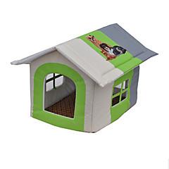 voordelige Hondenbenodigdheden & Verzorging-Kat Hond bedden Huisdieren Matten & Pads Patchwork waterdicht draagbaar Ademend Tent Geel Groen Blauw