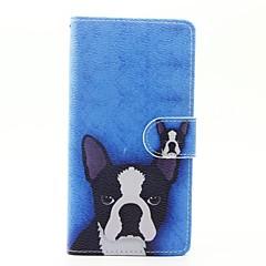 Недорогие Чехлы и кейсы для Huawei серии Y-Кейс для Назначение Huawei P9 Lite Huawei Huawei P8 Lite Бумажник для карт Кошелек со стендом Флип Чехол С собакой Твердый Кожа PU для