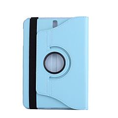 お買い得  ラップトップケース-ケースカバー用スタンド360回転フルボディケースソリッドカラーハードpuレザーsamsungタブs3 9.7 t825 / t820用