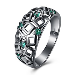Women's Ring Synthetic Opal AAA Cubic Zirconia Basic Unique Design Geometric Friendship Hip-Hop Cute Style Euramerican Turkish Simple