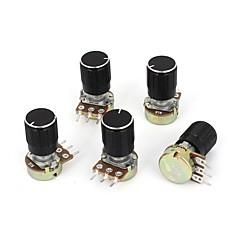 abordables Accesorios-Potenciómetro giratorio de tara de 1k ohm de 5 piezas b1k