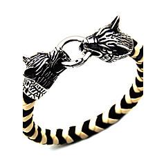 Муж. Браслет цельное кольцо Бижутерия Мода Панк Кожа Сплав Круглой формы Бижутерия Для Особые случаи Спорт 1шт