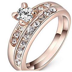 お買い得  指輪-女性用 カップルリング 指輪  -  ベーシック ワンサイズ / 19 ローズゴールド 用途 パーティー 誕生日 おめでとう