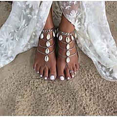 Kadın Ayak bileziği/Bilezikler alaşım Moda Elyapımı kostüm takısı Gözyaşı Mücevher Uyumluluk Günlük