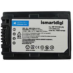 Ismartdigi fh100 7.2v 3900mah μπαταρία φωτογραφικής μηχανής για sony hdr-sr11e sr12e sr65e