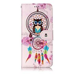Etui Til Samsung Galaxy S8 Plus S8 Pung Kortholder Med stativ Flip Mønster Magnetisk Heldækkende Ugle Drømme fanger Hårdt Kunstlæder for