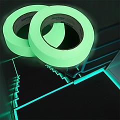abordables Decoración del Hogar-resplandor cintas luminosas rayas de advertencia resplandor en la oscuridad líneas de emergencia adhesivo de pared de vinilo adhesivo fluorescente