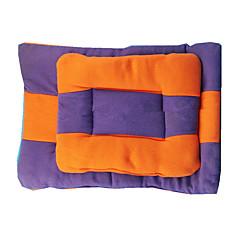 お買い得  犬用品&グルーミング用品-保温 / 両面 / ソフト / 耐久 犬の服 ベッド カラーブロック オレンジ / パープル 犬