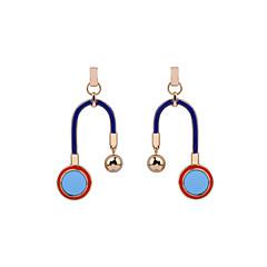 preiswerte Ohrringe-Damen Tropfen-Ohrringe Schmuck Luxus Geometrisch Herz Schleife Seitwärts Simple Style Aleación Geometrische Form Schmuck Geburtstag Party