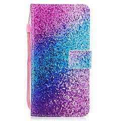 Käyttötarkoitus iPhone X iPhone 8 kotelot kuoret Korttikotelo Lomapkko Tuella Flip Kuvio Magneetti Kokonaan peittävä Etui Color Gradient