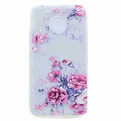 For Motorola G5 G5 Plus Case Cover Transparent Pattern Back Cover Case Flower Soft TPU Case