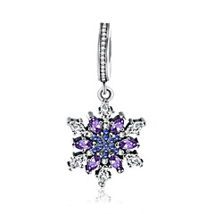 Pendants AAA Cubic Zirconia Flower Sterling Silver ZirconCircular Unique Design Dangling Style Rhinestone Friendship Cute Style