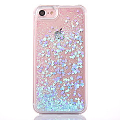 Til iPhone X iPhone 8 iPhone 8 Plus iPhone 5 etui Etuier Flydende væske Transparent Bagcover Etui Glitterskin Hårdt PC for iPhone X
