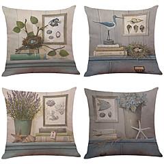 """készlet 6 irodalmi stílusú nyomott ágynemű otthoni irodai kanapé négyzetes párnahuzat dekoratív (18 """"* 18"""")"""