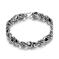 Heren Armbanden met ketting en sluiting Sieraden Vintage Verzilverd Geometrische vorm Sieraden Voor 1 Pak