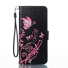 halpa Galaxy S3 kotelot / kuoret-Etui Käyttötarkoitus Samsung Galaxy S8 Plus S8 Korttikotelo Lomapkko Tuella Flip Magneetti Kuvio Koristeltu Suojakuori Perhonen Kova
