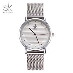 SK Kadın's Bayanların Moda Saat Bilezik Saat Benzersiz Yaratıcı İzle Elbise Saat Çince Quartz Su Resisdansı Darbeye Dayanıklı Metal Alaşım