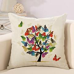 1 개 면/린넨 베게커버 베개 커버,나무 / 잎 노벨티 패션 빈티지 캐쥬얼 레트로 전통적/ 클래식 네오클래식 유럽의