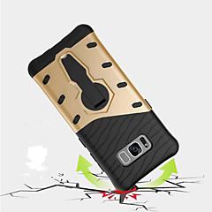 tanie Galaxy S6 Edge Etui / Pokrowce-Kılıf Na Samsung Galaxy S8 Plus S8 Odporne na wstrząsy Z podpórką Obrót 360° Czarne etui Zbroja Twarde PC na S8 Plus S8 S7 edge S7 S6