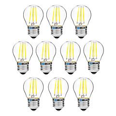 お買い得  LED 電球-BRELONG® 10個 4W 300lm E27 フィラメントタイプLED電球 G45 4 LEDビーズ COB 調光可能 温白色 ホワイト 200-240V