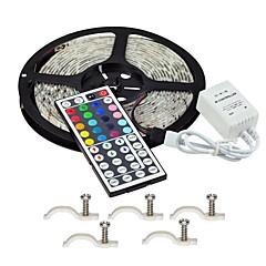 tanie Zestawy oświetlenia-Zestawy oświetlenia 300 Diody LED RGB Pilot zdalnego sterowania Nadaje się do krojenia Przysłonięcia Wodoodporne Zmieniająca Kolor