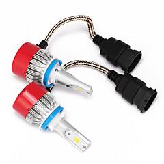 Недорогие Автомобильные фары-H8 / H11 / H9 Автомобиль Лампы Интегрированный LED 3600lm Светодиодная лампа Налобный фонарь