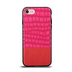 Недорогие Кейсы для iPhone 6-Кейс для Назначение Apple iPhone 7 Plus iPhone 7 Защита от удара Кейс на заднюю панель Сплошной цвет Твердый Настоящая кожа для iPhone 7