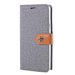 Для примечания галактики Samsung 5 примечание 4 случая покрывает холстину ткань картины pu кожаные случаи