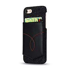Для iphone 7 плюс 7 держатель карточки чехол задняя крышка твердый цвет твердая натуральная кожа 6 плюс 6 с плюс 6 6 с