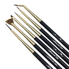 6pcs/Set Sweep Chalk Pull String Stroke Pen Nail Brushes Nail Art Tool
