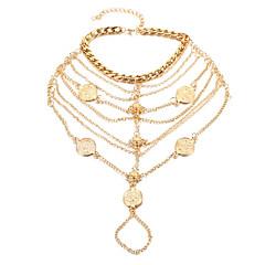 Χαμηλού Κόστους -Γυναικεία Βραχιόλι αστραγάλου/Βραχιόλια Κράμα Μοντέρνα Τούρκικα κοστούμι κοστουμιών Κουμπί Κοσμήματα Για Καθημερινά Causal