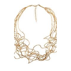 abordables Collares-Mujer Collar de hebras - Personalizado, Bohemio, Moda Dorado, Blanco, Plata Gargantillas Joyas Para Regalos de Navidad, Boda, Fiesta