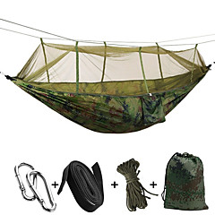Camping Hammock with Mosquito Net Padlock Tie Wrap Rope Bags Moistureproof/Moisture Permeability Well-ventilated Rectangular Ultra