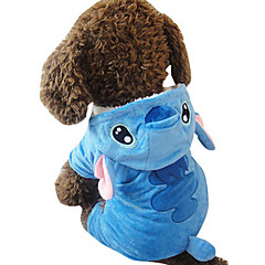 Hund Kostume Hundetøj Cosplay Dyr Blå